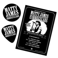 Matty James & The Irregulars – Signed UK Tour Poster Set