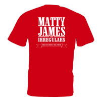 Matty James & The Irregulars T-shirt (Red)