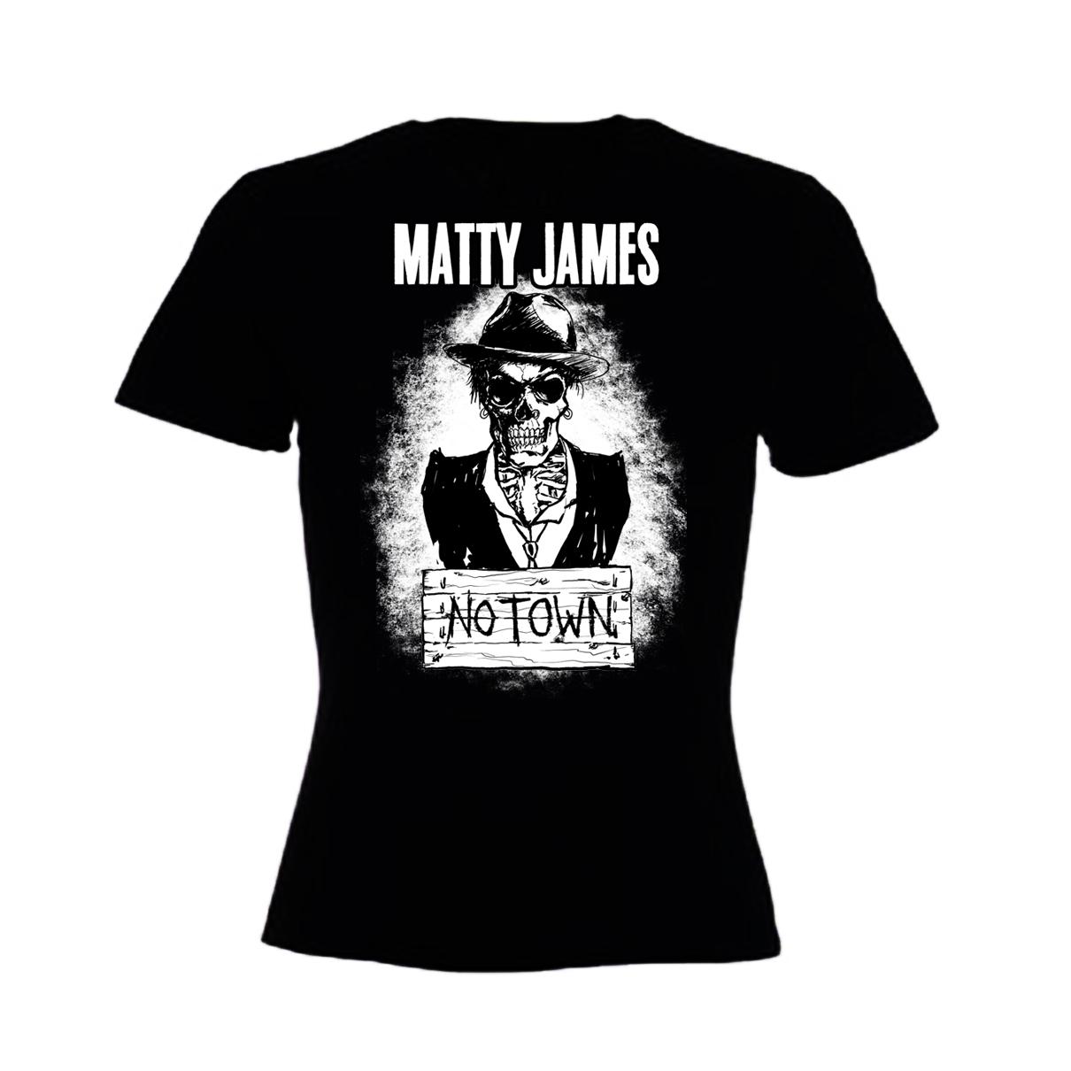 Matty James - The Road To No Town T-Shirt (Girls Skinny)