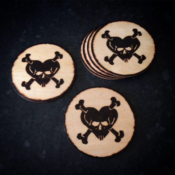 Pirate Heart Coasters